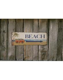 Plaque deco Beach