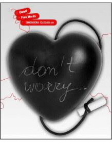 Coeur ardoise Message