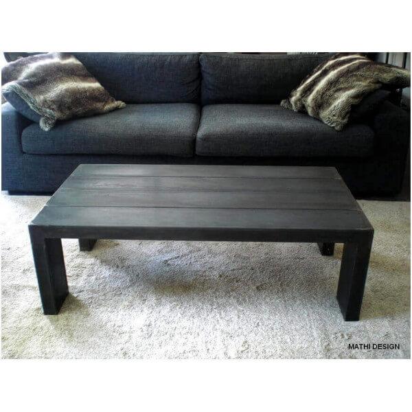 Table basse acier massif design