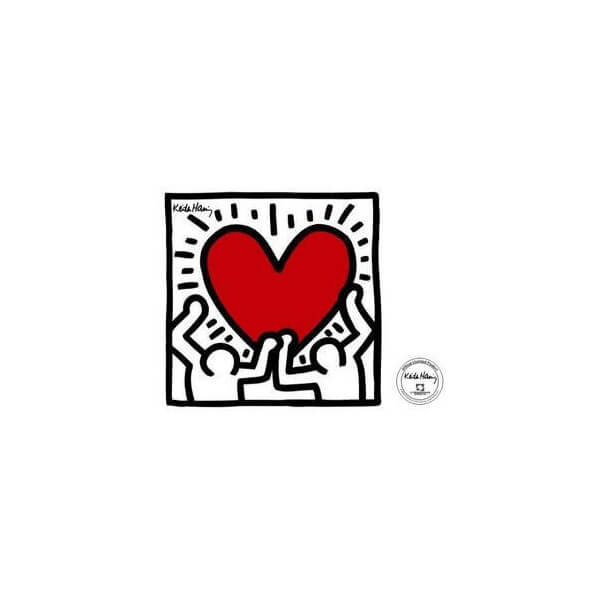 Sticker Men with Heart de K.Haring 171