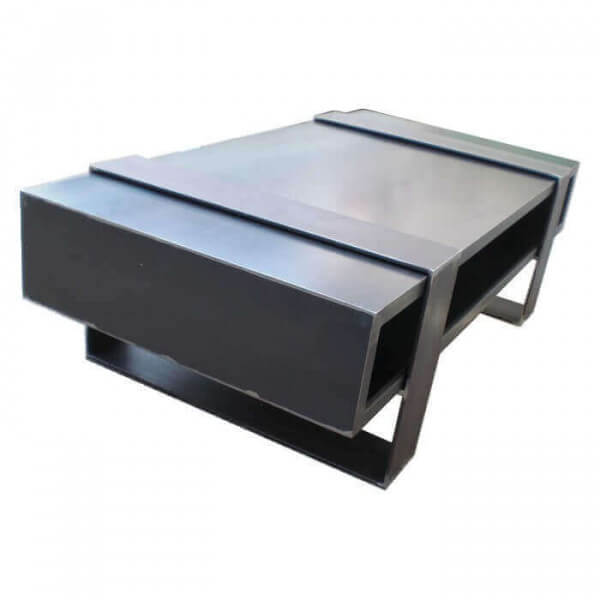duosteel m tallica low table solid crude steel