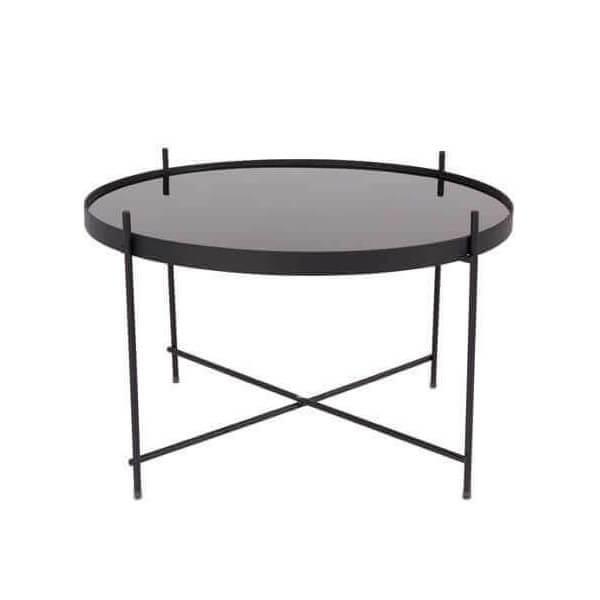 table basse noire plateau amovible en miroir noir table originale et fonctionnelle 3 dimensions. Black Bedroom Furniture Sets. Home Design Ideas