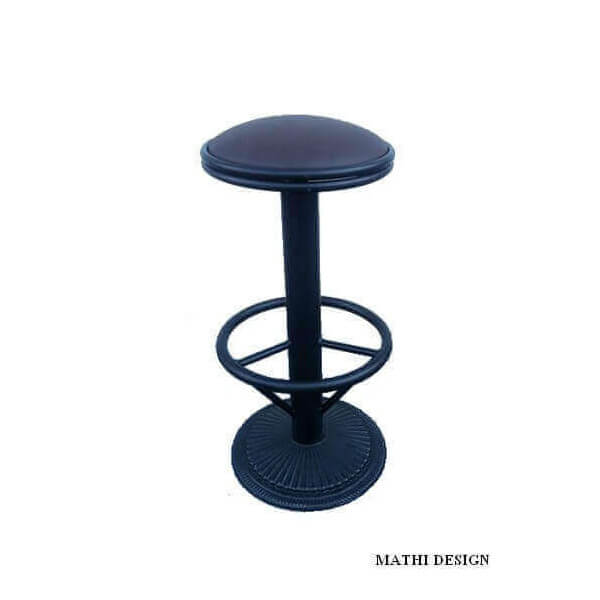 Industrial swivel bar stool