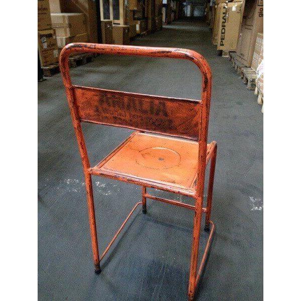 chaise en m tal vintage originale. Black Bedroom Furniture Sets. Home Design Ideas