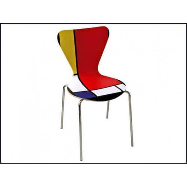 Mondrian style chair