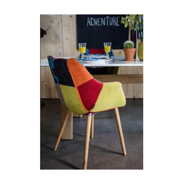 Chaise patchwork eleven zuiver chaise design mobilier for Chaise longue patchwork