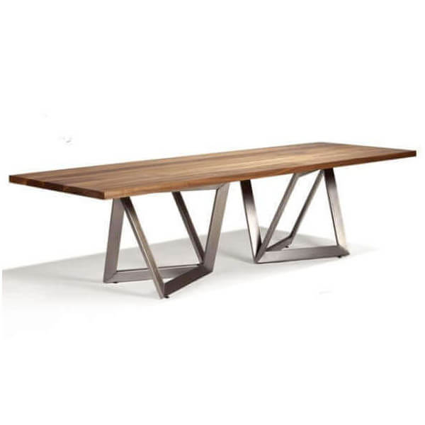 table de repas bois massif inox. Black Bedroom Furniture Sets. Home Design Ideas
