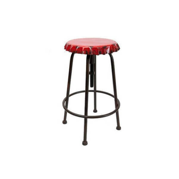 Caps adjustable bar stool