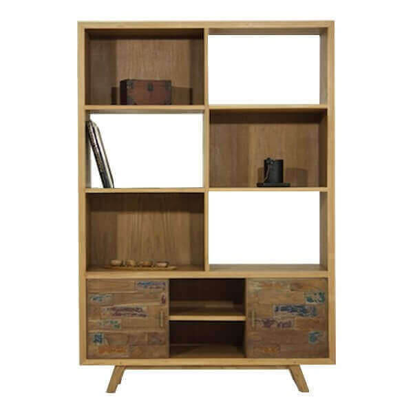 biblioth que de rangement au design scandinave en bois massif. Black Bedroom Furniture Sets. Home Design Ideas