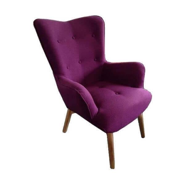 fauteuil violet 1. Black Bedroom Furniture Sets. Home Design Ideas