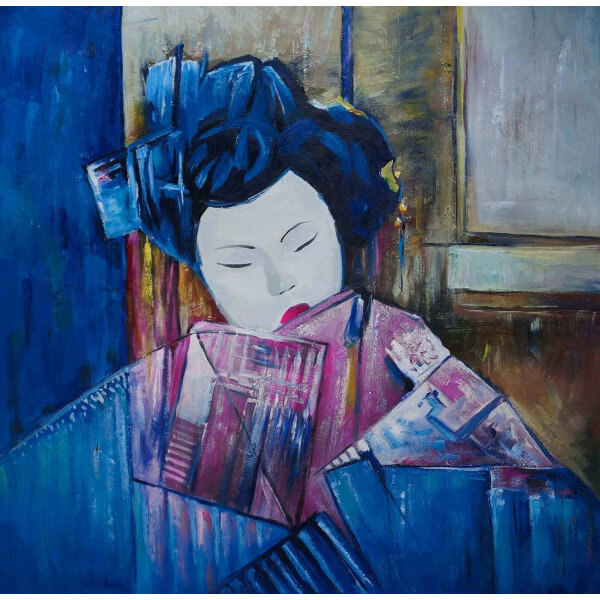 Exotic painting Geisha