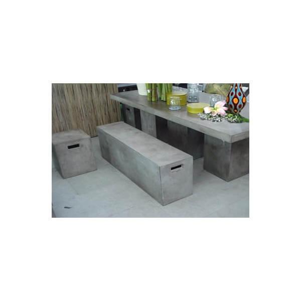 banc b ton massif 100 cm pas chere et tr s design. Black Bedroom Furniture Sets. Home Design Ideas