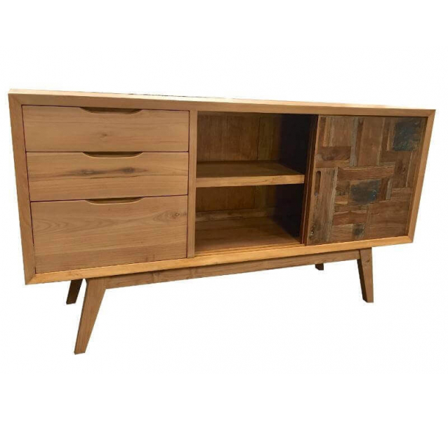 Buffet commode design bois massif - Commode buffet design ...