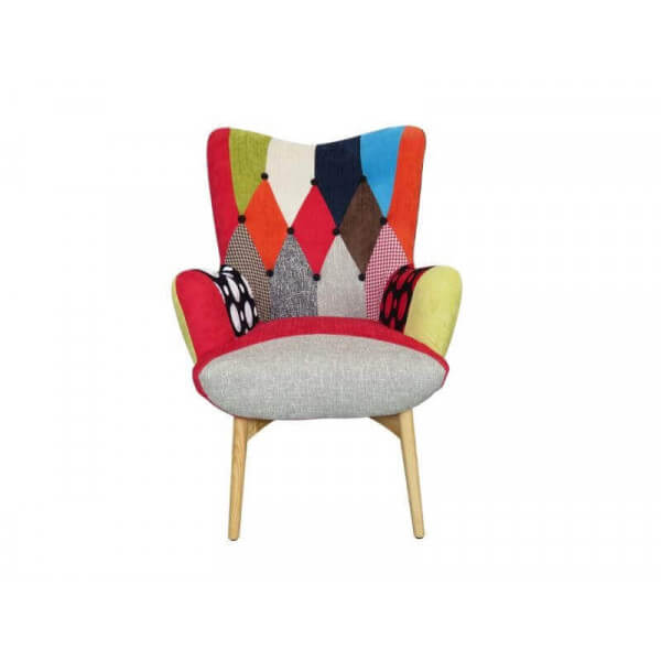 fauteuil patchwork color java