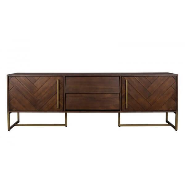 Meubles TV design : acier/bois - Mathi Design