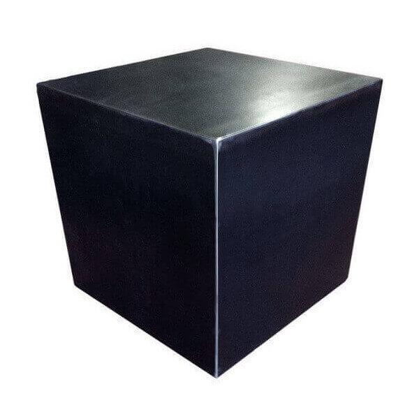 Cube design acier brut 661