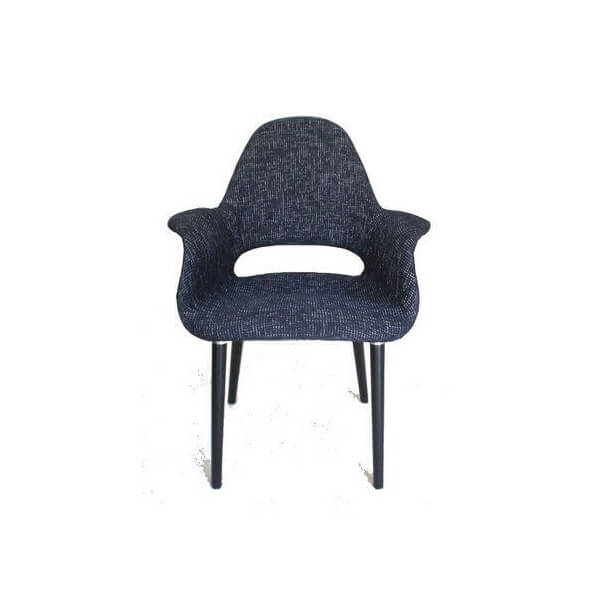 Fauteuil Oslo Tweed noir 816