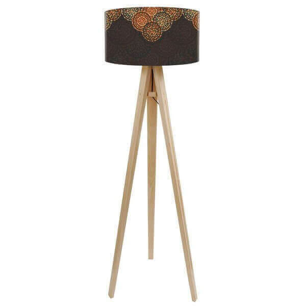 lampadaire tripod en bois cosy mathi design. Black Bedroom Furniture Sets. Home Design Ideas