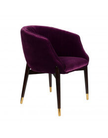 Chaise Dolly velours prune