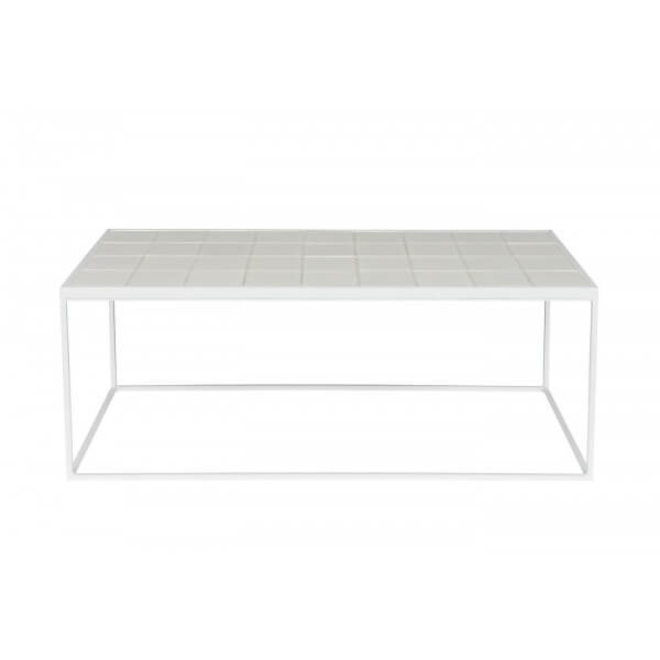 Table Basse Glazed Zuiver blanc