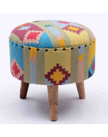 Wooven Kilim Stool