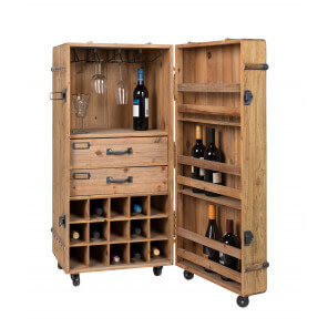 Wood bar storage by Dutchbone