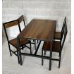 table repas chaise industrielle