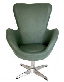 Fauteuil design sixties gris vert