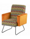 ARIZONA - Fauteuil style fifties orange