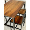 Table repas loft industrielle 110