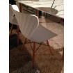 Chaise de table blanche