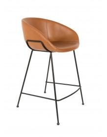 chaise de bar feston zuiver marron