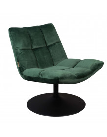 Green velvet Lounge Chair Dutchbone