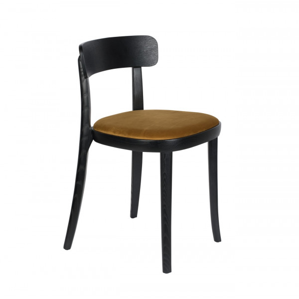 BRANDON - Chaise de repas jaune Ocre