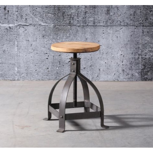 ATELIER - Adjustable industrial stool