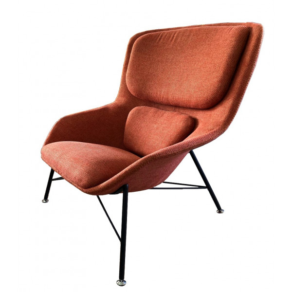 Fauteuil design Rockwell orange