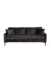 HOUDA - 3 seat dark grey sofa