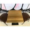 table plateau bois 60x60 cm