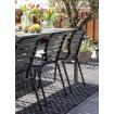 VONDEL - Chaise de jardin noire zuiver