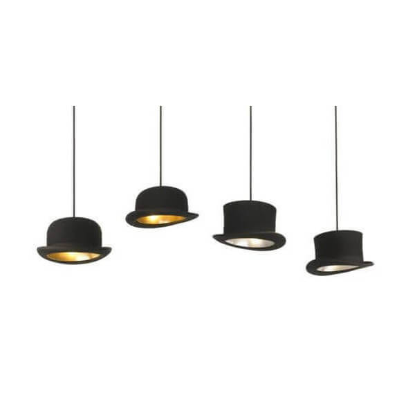lustre chapeau melon vente suspensions luminaires design lampes contemporaines sur mathi design. Black Bedroom Furniture Sets. Home Design Ideas