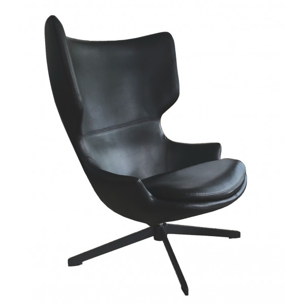 TORINI - Black swivel design armchair