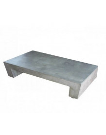 Table basse beton massif rectangle