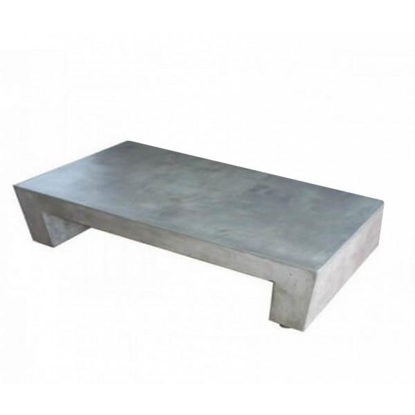 Table basse beton massif rectangle