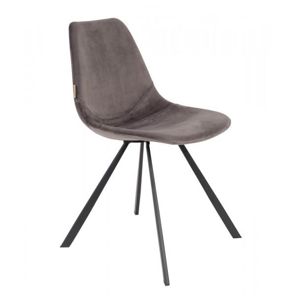 Dining chair Franky by Dutchbone-grey