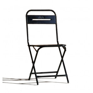 Black Folding Steel chair
