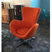 Orange design chair Cocoon