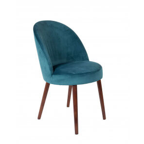 Blue Velvet dining chair Barbara