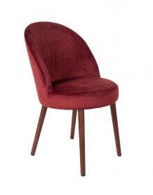 Red Velvet dining chair Barbara