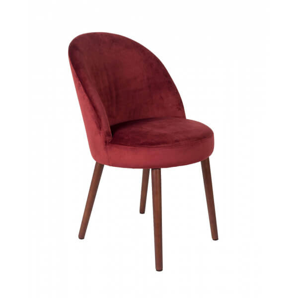 Chaise de repas Barbara-rouge