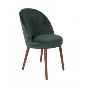 Chaise de repas Barbara velours vert